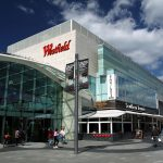 Westfield London shopping mall near Dockside Apartments