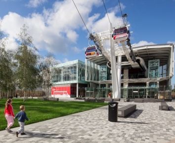 Cable Car Emirates Air Line Greenwich Peninsula London
